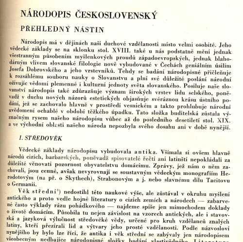 Národopis československýJiří Horák
